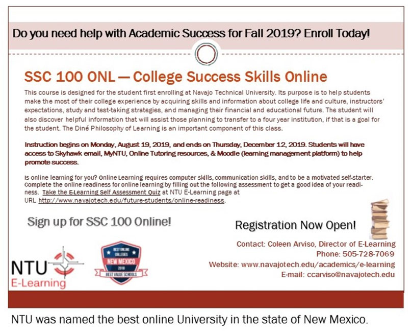 Announcements - Navajo Technical University | Crownpoint, NM